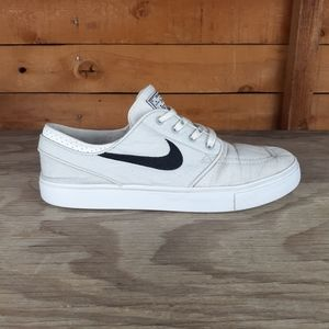 Nike ZOOM STEFAN JANOSKI Canvas White Skate sz 7